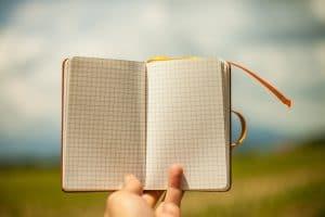 libreta para escribir post en tu blog